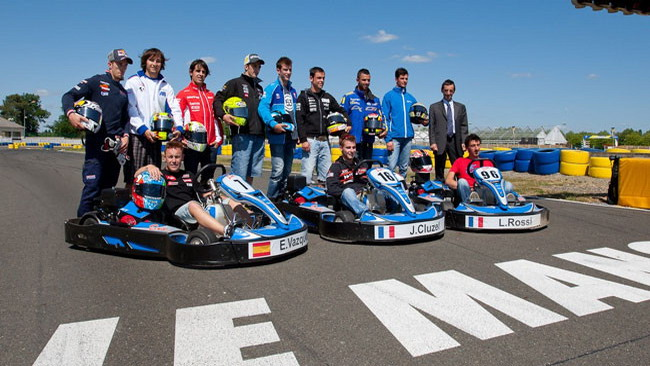 Sfida sui kart a Le Mans per i piloti del Motomondiale