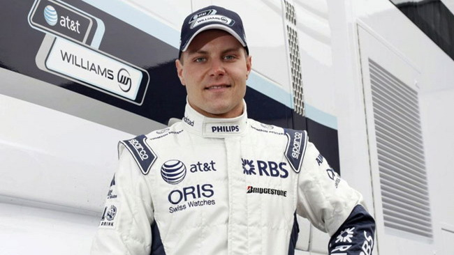 Bottas completa un test aerodinamico per la Williams