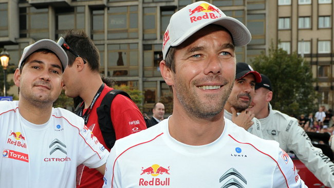 Loeb al via dell'ultima gara del GT Francese