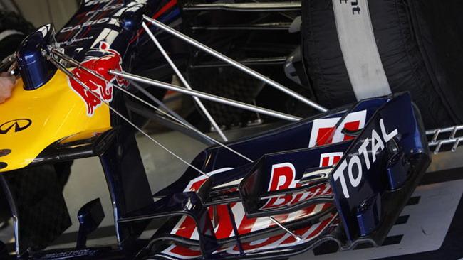 Guardate quante parti si muovono sull'ala Red Bull!