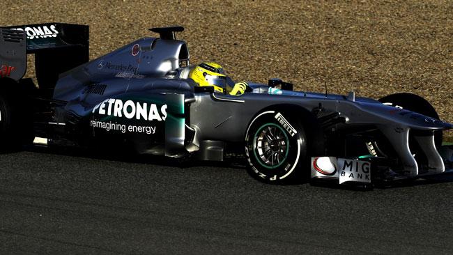 Jerez, Day 3, Ore 13: tempone di Nico Rosberg