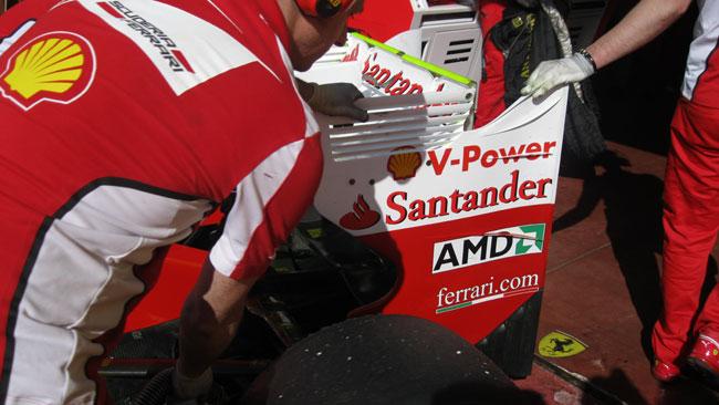 Sulla Ferrari cambia anche l'ala posteriore della F2012