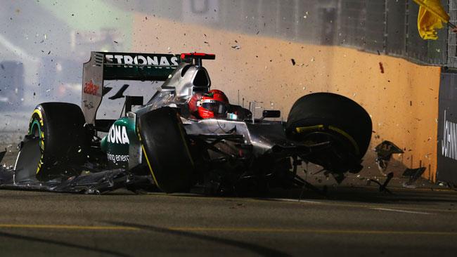 Schumi perde 10 posizioni in griglia a Suzuka