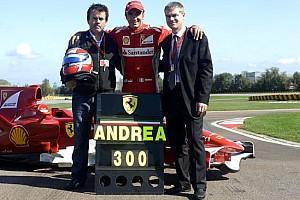 Bertolini festeggia i 300 collaudi di monoposto Ferrari
