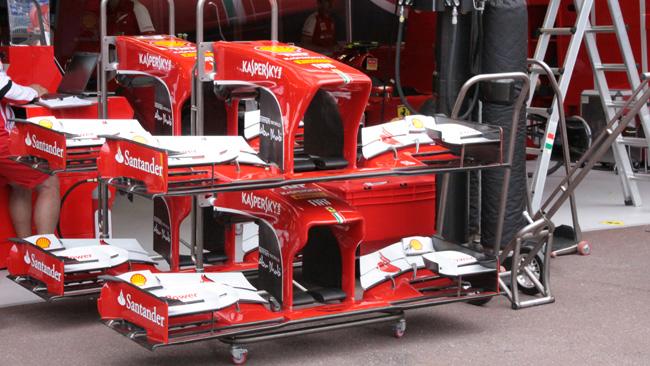 Nuovi piloni per il muso della Ferrari F138