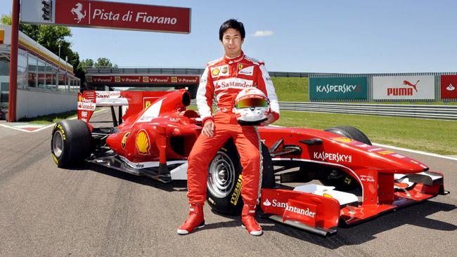 Kamui Kobayashi ha provato la Ferrari F10 a Fiorano