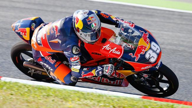 Luis Salom in pole di forza a Barcellona