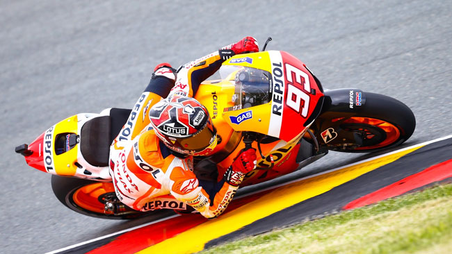 Sachsenring, Warm-Up: Marquez stacca tutti quanti