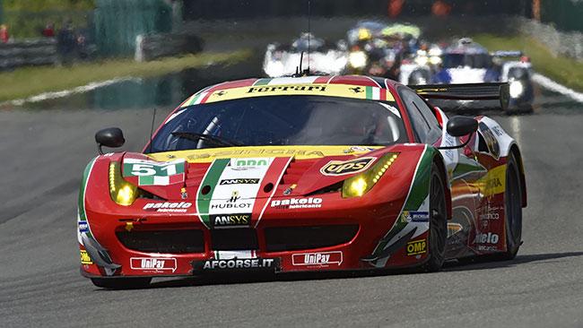 Bruni e Vilander tingono di Rosso Spa tra le GTE