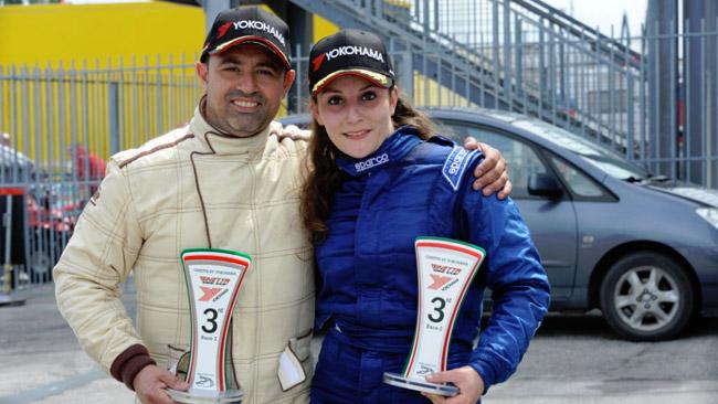 Alessandra Brena sul podio tra le Ginetta a Misano