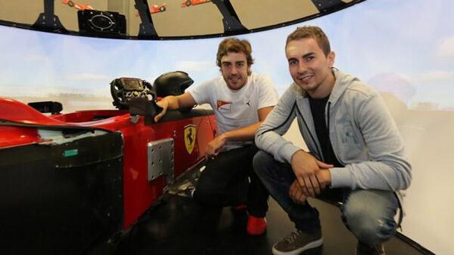 Jorge Lorenzo ha incontrato Alonso a Maranello