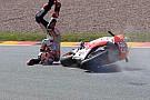 Ecco le impressionanti foto della caduta di Marquez
