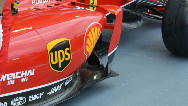 Ferrari: doppio turning vanes sulla F14 T