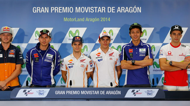 Aragon: è già sfida Honda-Yamaha in conferenza