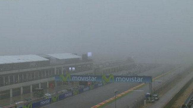 Tanta nebbia ad Aragon: i warm-up slittano di un'ora