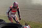 Marquez è caduto nella FP1 per un problema ai freni