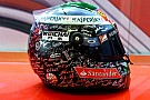 Alonso saluta la Ferrari con un casco speciale