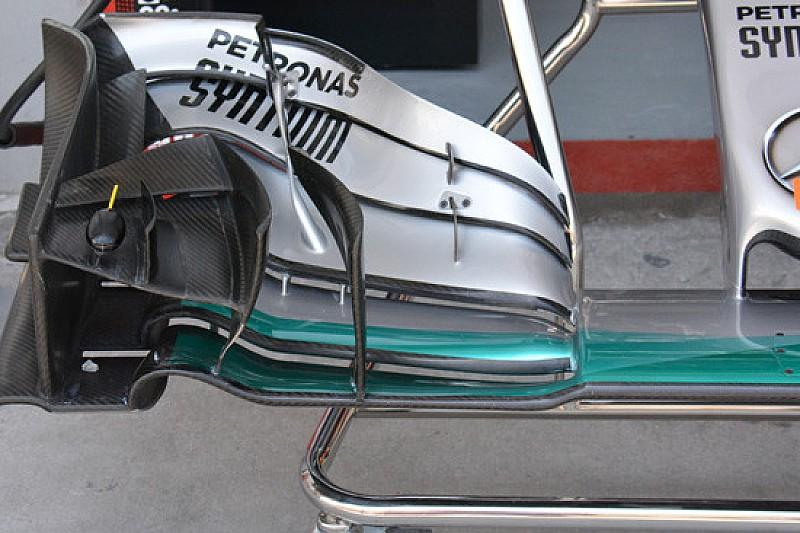 Mercedes: l'ala nuova era pensata per il prossimo Gp