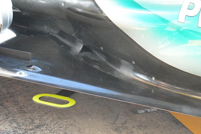 Mercedes: una presa sul fondo per respirare meglio
