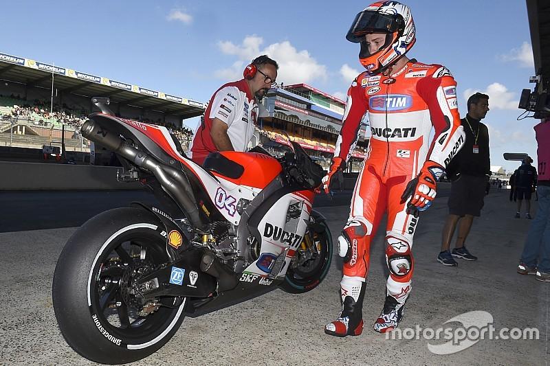 EL1 - Lorenzo pris en sandwich par les Ducati