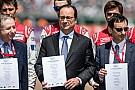 Au Mans, le Président Hollande soutient la campagne FIA Action for Road Safety