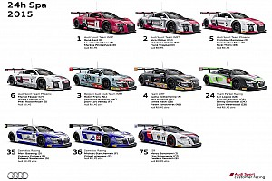 Blancpain Endurance Breaking news New Audi R8 LMS meets with fiercest competition of the season at Spa