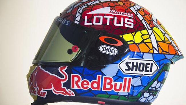 Ecco il casco speciale di Marquez per Barcellona