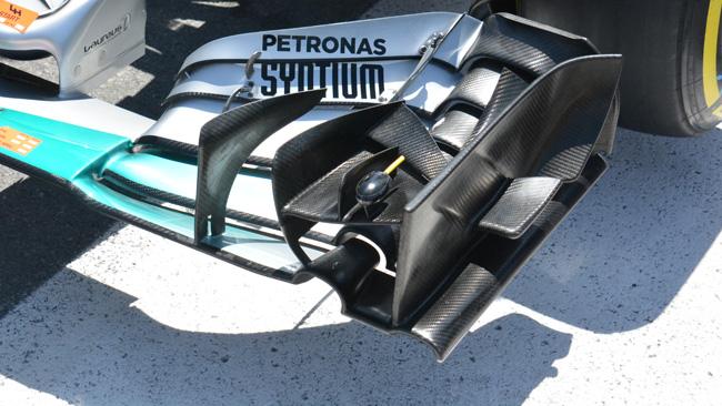 Mercedes: flap con meno corda nell'ala anteriore