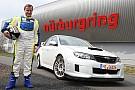 Tommi Makinen al Nordschleife sulla Subaru