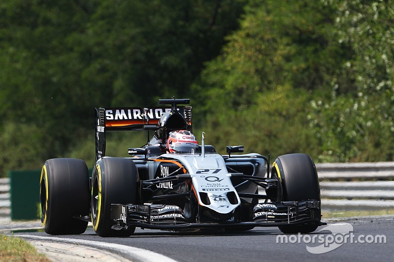 Hulkenberg one row ahead of teammate Perez on qualifying for the Hungarian GP