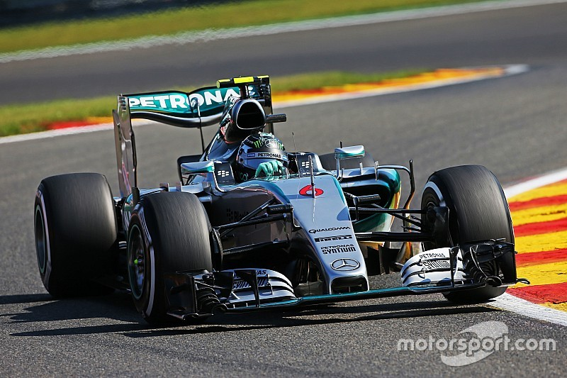 Belgian GP: Rosberg leads Hamilton in first practice