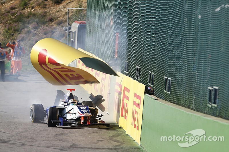 "Parry blasts ""ridiculous"" GP3 cars after Spa crash"