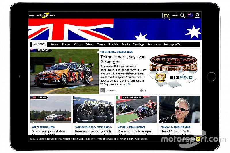 Motorsport.com lança plataforma específica para mercado australiano