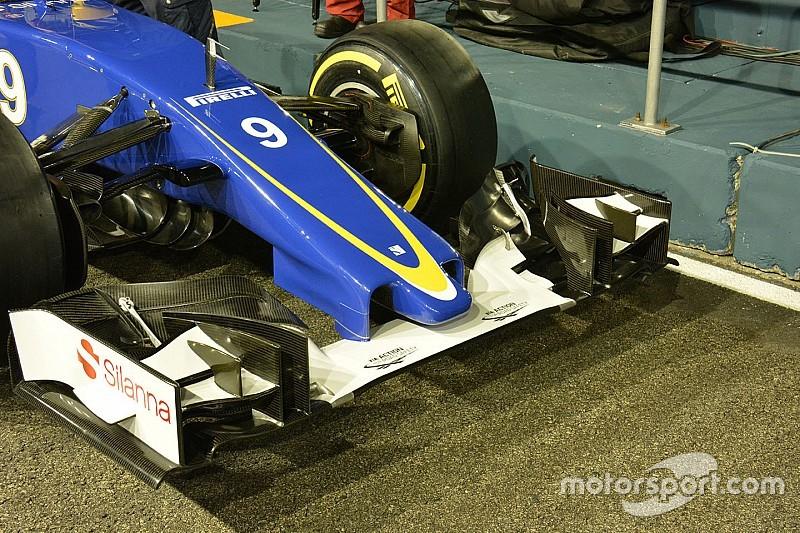 Sauber introduce una nueva nariz acortada