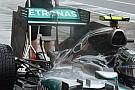Mercedes: flap mobile tagliato nell'ala posteriore