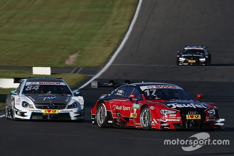 Audi driver Molina celebrates first DTM victory