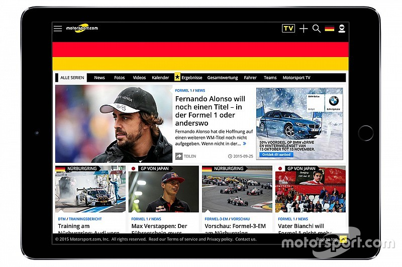 Motorsport.com startet Internetpräsenz in deutscher Sprache