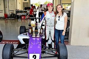 """Indian Open Wheel Artículo especial Tatiana Calderón: """"Hace mucho no me divertía tanto en una carrera!"""""""