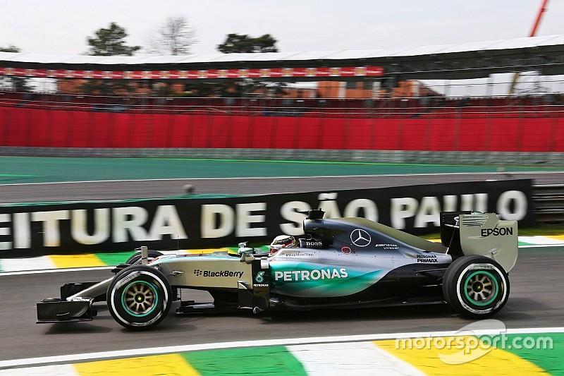 Hamilton dominó la primera práctica en Brasil