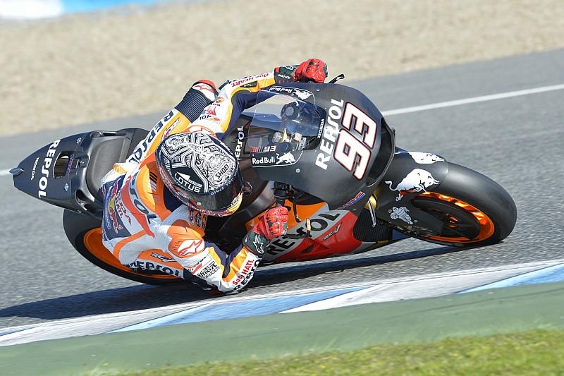 Marquez sofre duas quedas em teste final de 2015