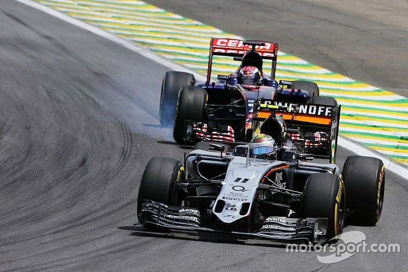 """Perez: """"Verwacht in 2016 meer van Toro Rosso en Haas"""""""