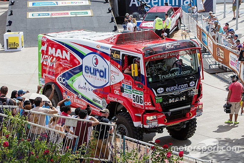 Dakar, Camion, Tappa 2: Stacey e la doppietta Man