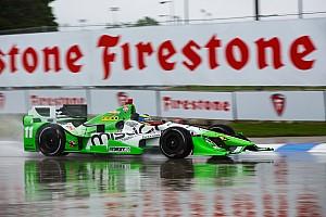 IndyCar Diaporama Rétro 2015 - La pluie redistribue les cartes à Detroit