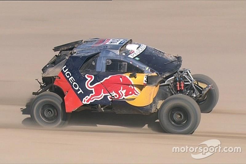 Dakar: ecco Loeb dopo il pauroso tonneau