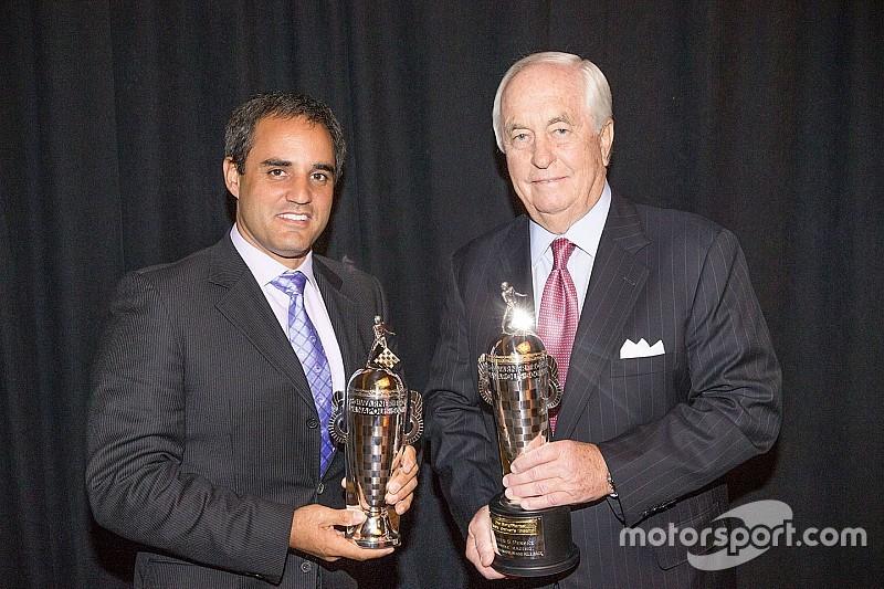 "Penske and Montoya receive ""Baby Borgs"" in Detroit"