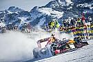 Foto's: Max Verstappen F1-demo in de Oostenrijkse sneeuw