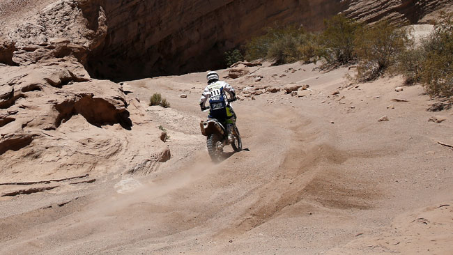 Dakar, la 125 di Sylvain Espinasse tiene ancora botta