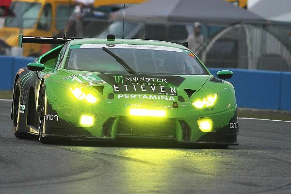 GTD组领先兰博基尼遭遇事故退赛