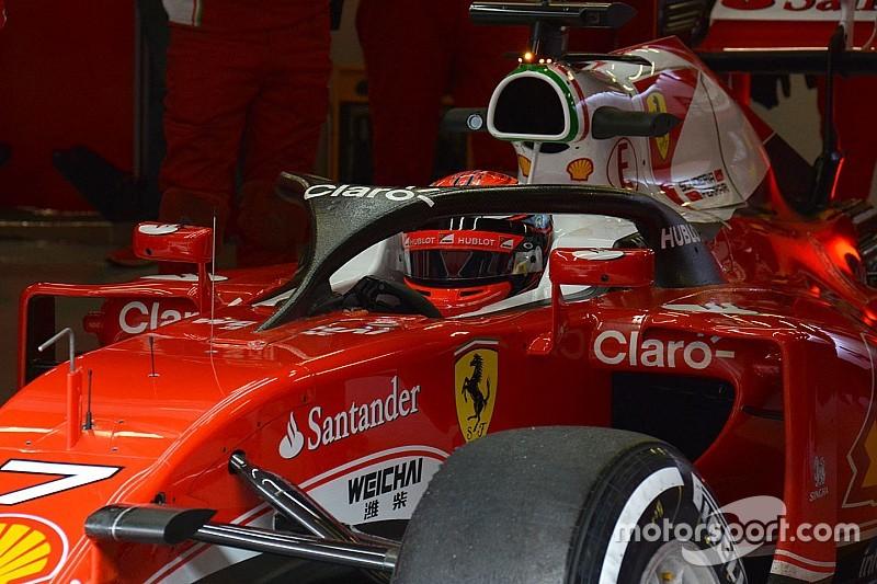 Raikkonen ha portato al debutto l'Halo sulla Ferrari