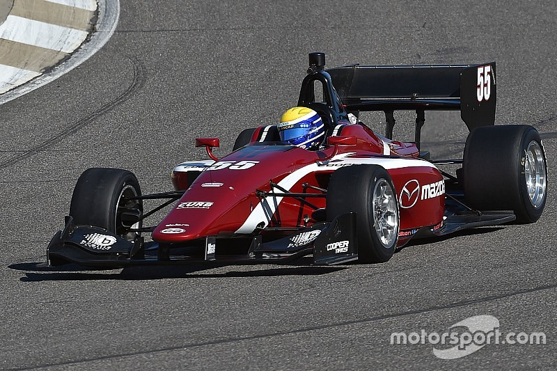 Urrutia termina arriba en la pretemporada de la Indy Lights